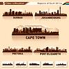 Stadt-Skyline Silhouetten Set 5 von Südafrika | Stock Vektrografik