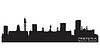 Vector clipart: Pretoria South Africa skyline Detailed silhouette