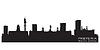 Pretoria Südafrika Skyline Detaillierte Silhouette | Stock Vektrografik