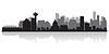 Vancouver Kanada Skyline Silhouette