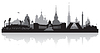 Vector clipart: Saint Petersburg city skyline silhouette