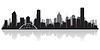 ID 3838743 | Мельбурн Австралия - силуэт горизонта города | Векторный клипарт | CLIPARTO