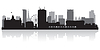 Birmingham City Skyline Silhouette | Stock Vektrografik