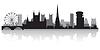 Bristol Stadt Skyline Silhouette | Stock Vektrografik