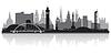 Glasgow Skyline Silhouette | Stock Vektrografik