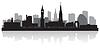 Leicester City Skyline Silhouette | Stock Vektrografik