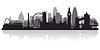 London Skyline Silhouette   Stock Vektrografik