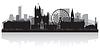 Manchester City Skyline Silhouette | Stock Vektrografik