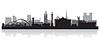 Newcastle Skyline Silhouette | Stock Vektrografik