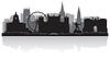 Nottingham Skyline Silhouette | Stock Vektrografik