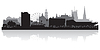 Sheffield Skyline Silhouette | Stock Vektrografik
