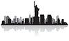 Skyline von New York Silhouette