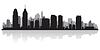 ID 3849121 | Philadelphia sylwetka miasta | Klipart wektorowy | KLIPARTO
