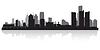Detroit city skyline silhouette