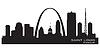 Saint Louis Missouri Stadt Skyline Silhouette
