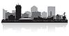ID 3904682 | Wichita Kansas City Skyline Silhouette | Stock Vektorgrafik | CLIPARTO