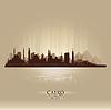 Ägypten Kairo Skyline Silhouette