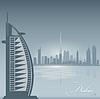 Dubai UAE Skyline Stadt Silhouette Hintergrund
