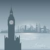 London England Skyline Stadt Silhouette Hintergrund