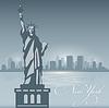 Skyline von New York Stadt Silhouette Hintergrund