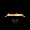 Ägypten Kairo Skyline Silhouette schwarzem Hintergrund