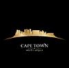 Kapstadt Südafrika Skyline Silhouette blac