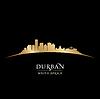 Durban Südafrika Skyline Silhouette schwarz