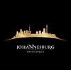 Johannesburg Südafrika Skyline Silhouette
