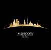 Moskau Russland Skyline Silhouette schwarz