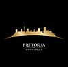 Pretoria Südafrika Skyline Silhouette