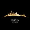 Sydney Australien Skyline Silhouette schwarz
