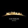 Las Vegas Nevada Skyline Silhouette schwarz