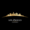 Los Angeles Kalifornien Skyline Silhouette blac