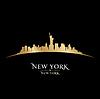 Skyline von New York Silhouette schwarzem Hintergrund