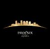 Phoenix Arizona Skyline Silhouette schwarz