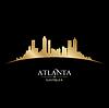 Atlanta Georgia Skyline Silhouette schwarz