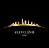 Cleveland Ohio Skyline Silhouette schwarz