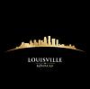 Louisville Kentucky Skyline Silhouette schwarz
