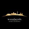 ID 3972529 | Washington DC Skyline Silhouette schwarz | Stock Vektorgrafik | CLIPARTO