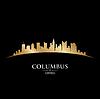 ID 3974923 | Columbus Ohio city skyline silhouette black | Klipart wektorowy | KLIPARTO