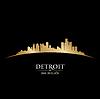 Detroit Michigan city skyline silhouette black