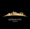 Kansas City Missouri Skyline Silhouette schwarz