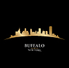 Buffalo New York Skyline Silhouette schwarz