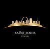 Saint Louis Missouri Stadt Silhouette schwarz
