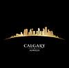 Calgary Alberta Kanada Skyline Silhouette blac