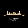 Hamilton Ontario Kanada Skyline Silhouette