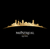 Montreal Quebec Kanada Skyline Silhouette blac