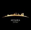 Ottawa Ontario Kanada Skyline Silhouette