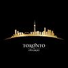 Toronto Ontario Kanada Skyline Silhouette blac