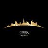 Cork Irland Skyline Silhouette schwarz
